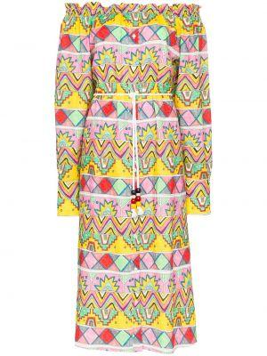 Платье на пуговицах с разрезами по бокам Mira Mikati