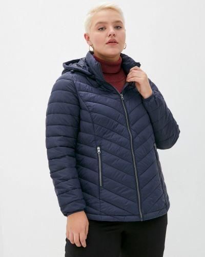 Теплая синяя утепленная куртка Zizzi