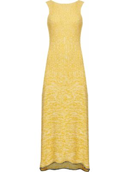 Хлопковое платье - желтое Joseph