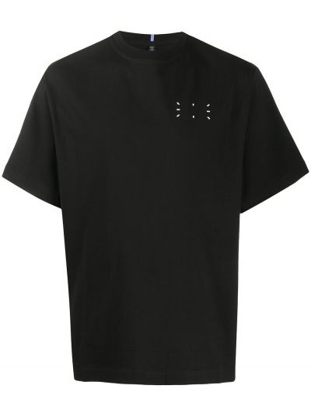 Czarny t-shirt bawełniany krótki rękaw Mcq Alexander Mcqueen