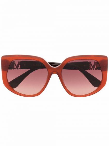 Солнцезащитные очки металлические - коричневые Max Mara