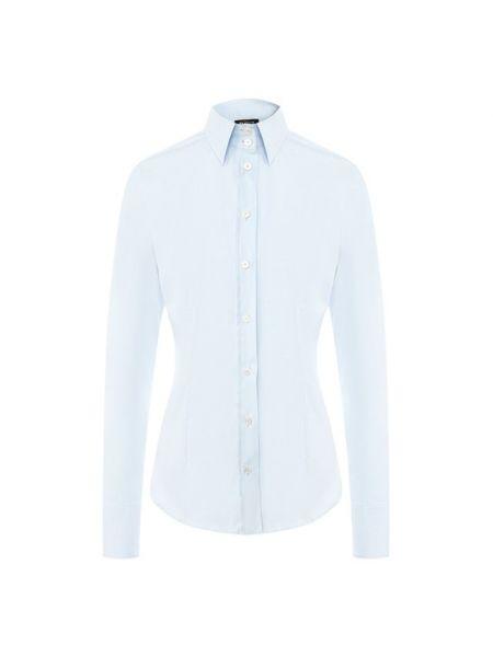 Хлопковая рубашка - синяя Kiton