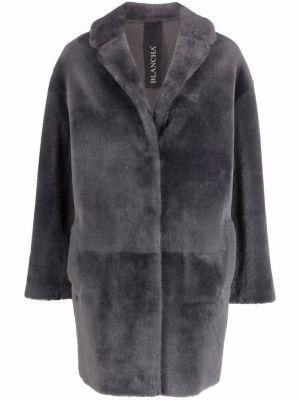 Серое длинное пальто Blancha