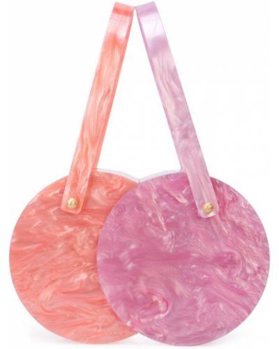 Фиолетовая сумка Edie Parker