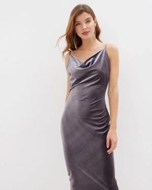 Вечернее платье серое осеннее Love Republic
