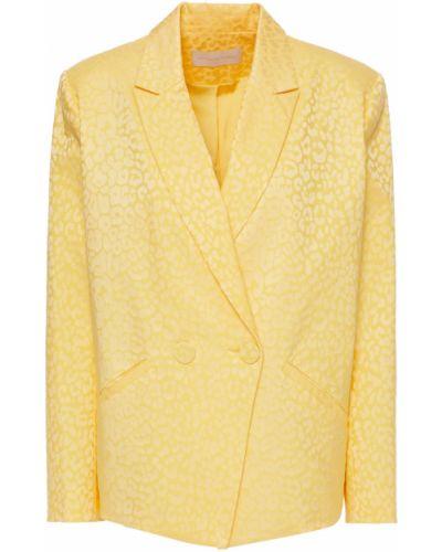 Żółta kurtka bawełniana z printem Michelle Mason