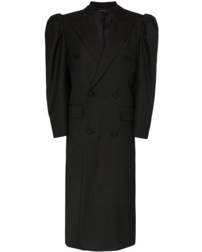Черное пальто с капюшоном Blindness