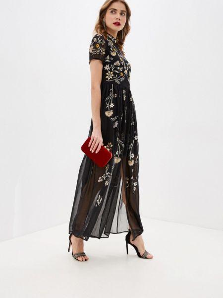 Вечернее платье черное весеннее Frock And Frill