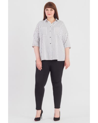 Блузка белая прямая Lacy_plus