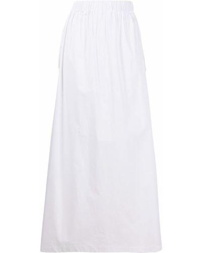 Расклешенная белая юбка миди с карманами Roberto Collina