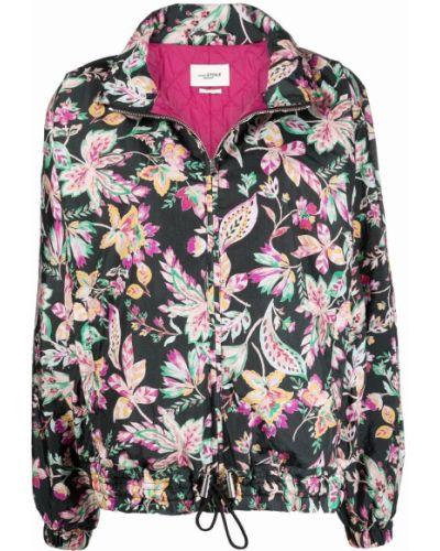 Черная куртка в цветочный принт Isabel Marant étoile
