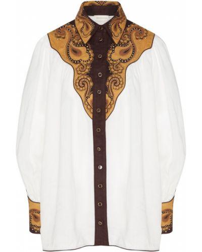 Блузка с вышивкой льняная Zimmermann
