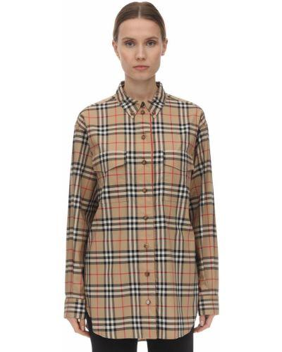 Рубашка оверсайз с принтом Burberry