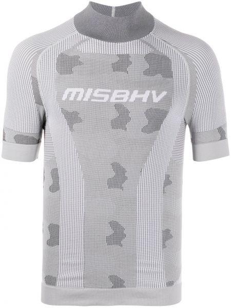 Koszula krótkie z krótkim rękawem z logo kamuflaż Misbhv