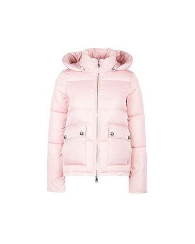 Куртка из полиэстера - розовая Emporio Armani
