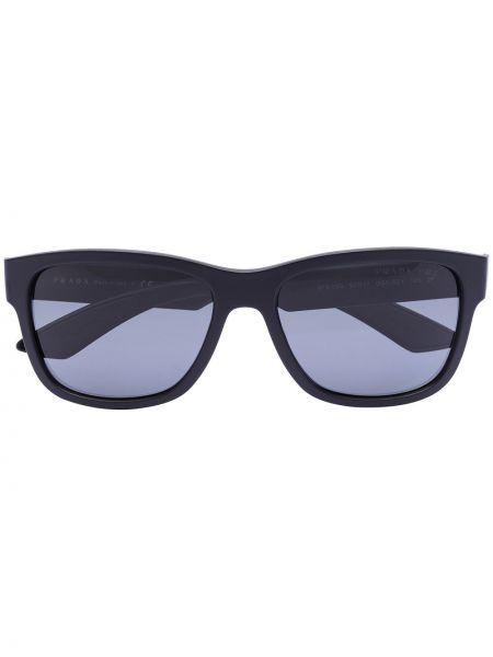 Солнцезащитные очки черные вайфареры Prada Eyewear