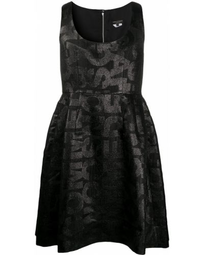 Шелковое черное платье без рукавов Comme Des Garçons Homme Plus