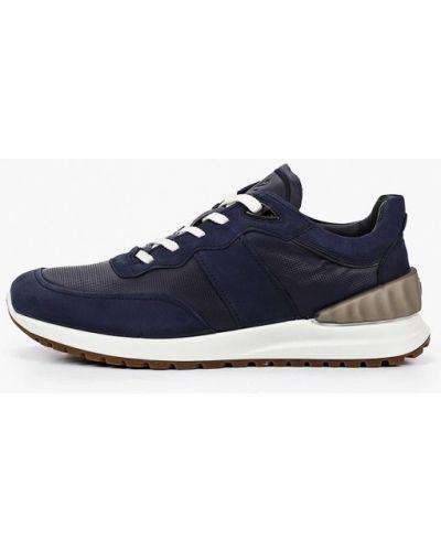 Синие кроссовки из нубука Ecco