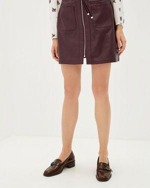 Кожаная юбка фиолетовый Befree