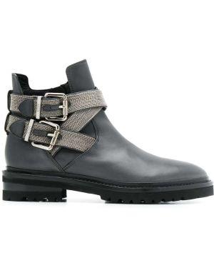 Кожаные ботинки - серые Steffen Schraut