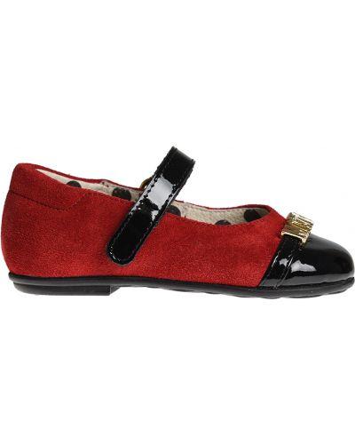 Туфли лаковые красные Moschino