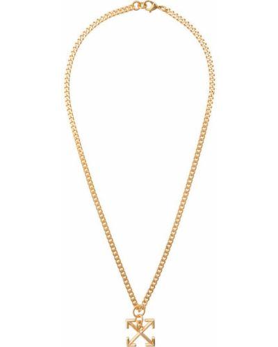 Ожерелье золотой желтый Off-white