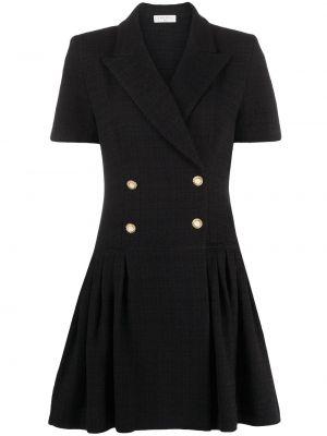 С рукавами черное платье мини свободного кроя Sandro Paris