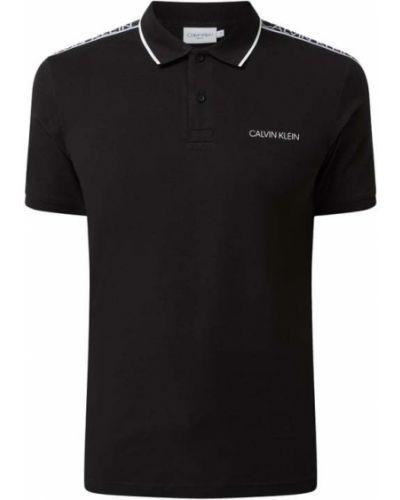 Czarna koszulka z paskiem Ck Calvin Klein