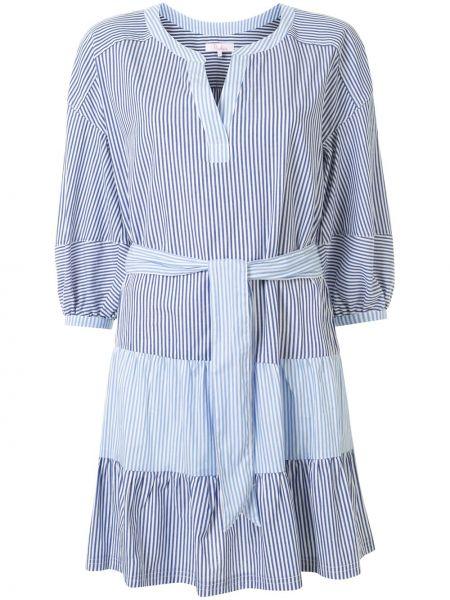 Платье в полоску - синее Parker