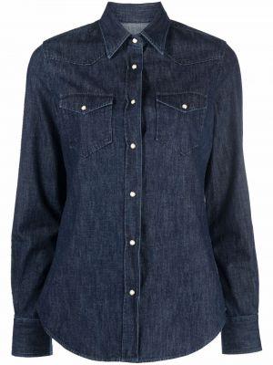 Синяя рубашка с воротником Xacus