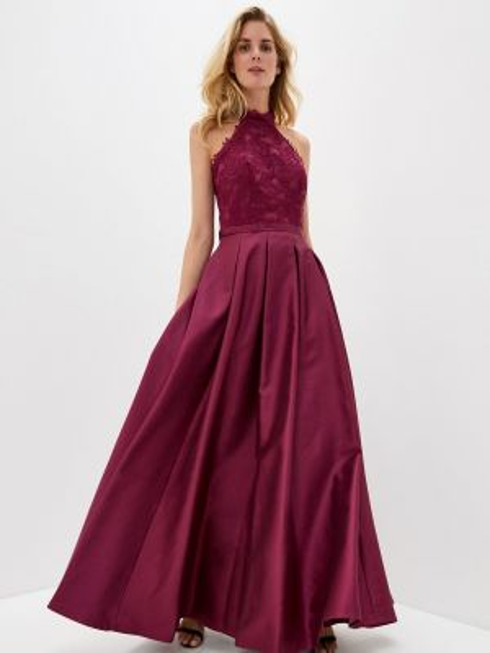 Вечернее платье бордовый красный Joymiss