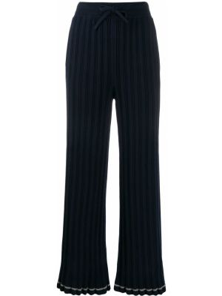 Спортивные брюки свободные в рубчик Mm6 Maison Margiela