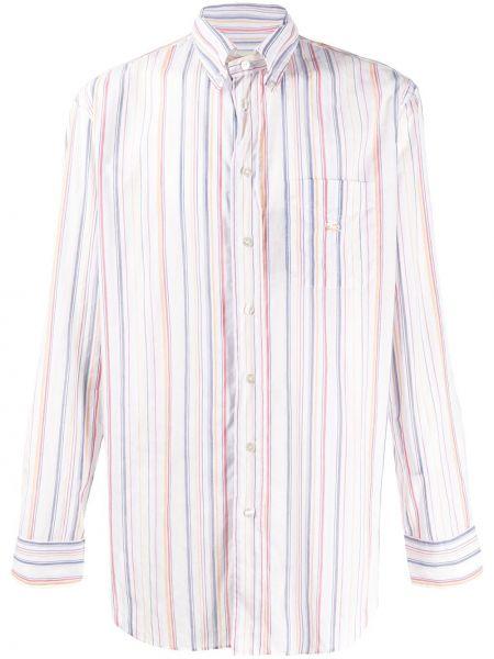 Koszula z długim rękawem długa w paski Etro