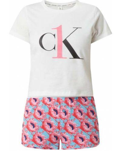 Różowa piżama bawełniana krótki rękaw Ck One