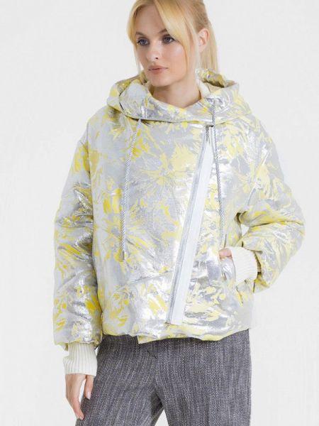 Теплая серебряная утепленная куртка Lo