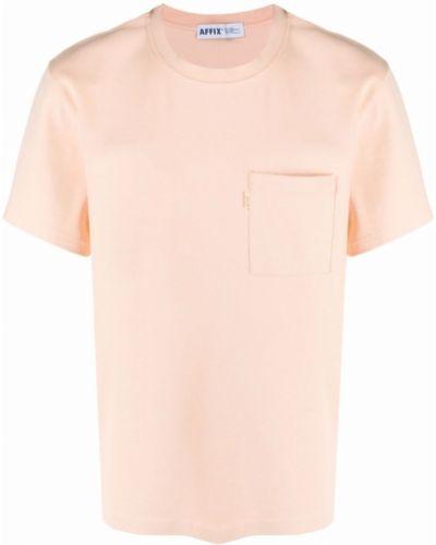 Różowy t-shirt bawełniany krótki rękaw Affix