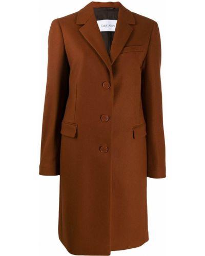 Однобортное пальто с капюшоном на пуговицах Calvin Klein