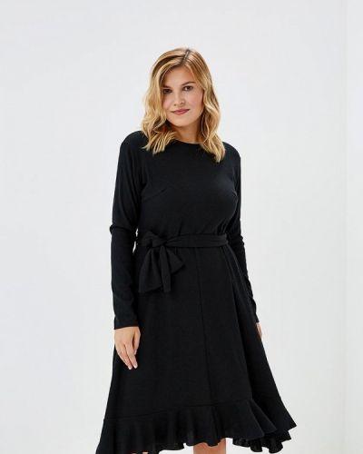 Повседневное платье осеннее черное Lost Ink Plus