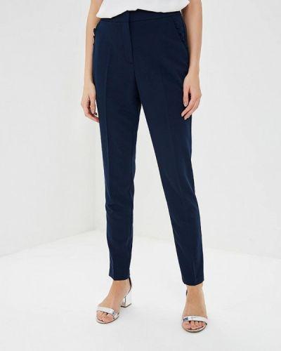 Синие брюки с завышенной талией Zarina