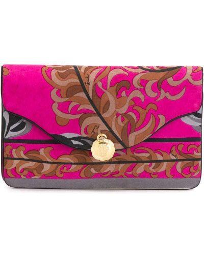 Розовый клатч винтажный Emilio Pucci Pre-owned