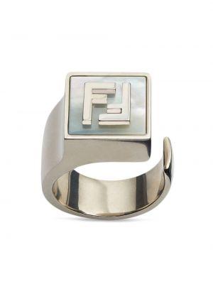 Pierścionek perły srebrny Fendi