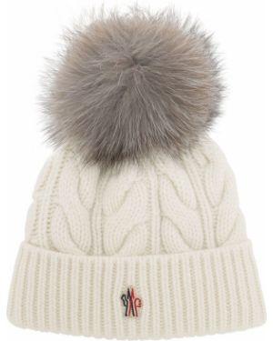 Biały kapelusz wełniany Moncler Grenoble