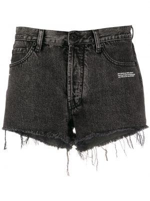 Классические джинсовые шорты со стразами с карманами на пуговицах Off-white