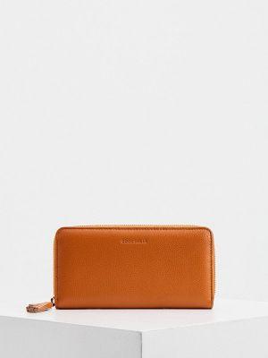 Кожаный кошелек - коричневый Coccinelle