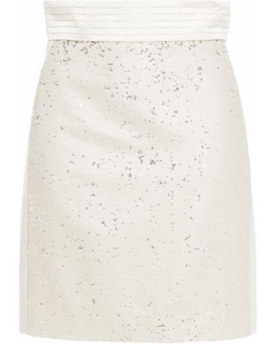 Satynowa spódnica mini w paski z cekinami Just Cavalli