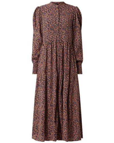 Brązowa sukienka z wiskozy Y.a.s
