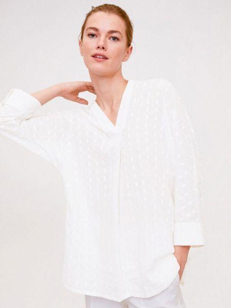 Блузка с длинным рукавом белая весенний Mango