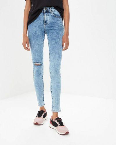 Голубые джинсы-скинни Wrangler