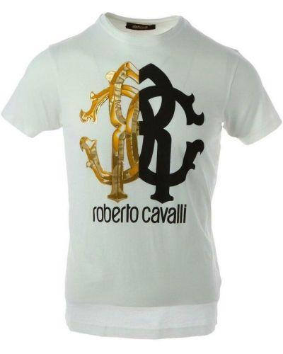 Biała t-shirt Roberto Cavalli