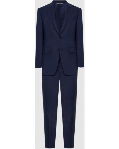 Костюмный синий костюм Canali